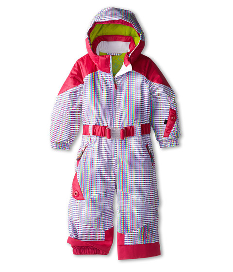 Spyder Kids - Bitsy Sassy Suit (Toddler/Little Kids/Big Kids) (White Prism/Girlfriend/Sharp Lime) Girl's Jumpsuit & Rompers One Piece