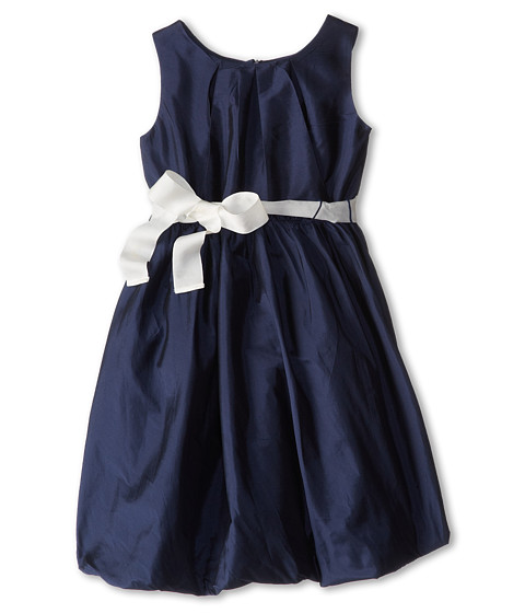Us Angels - Silky Taffeta w/ Bubble Hem (Big Kids) (Navy) Girl's Dress