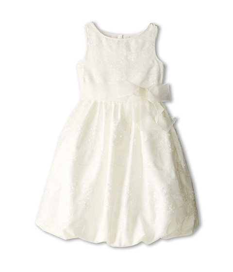 Us Angels - Embroidered Organza Pouf (Big Kids) (Ivory) Girl's Dress