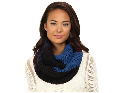 UGG - Cambridge Color Block Infinity Scarf (Black M) Scarves