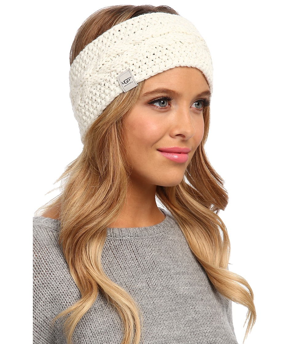 UGG - Nyla Cable Headband With Lurex (Cream M) Traditional Hats