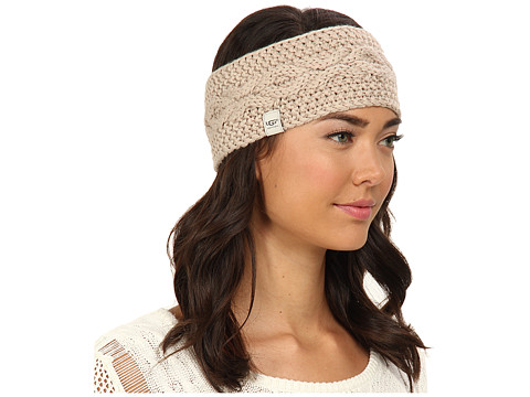 UGG - Nyla Cable Headband With Lurex (Moonlight M) Traditional Hats