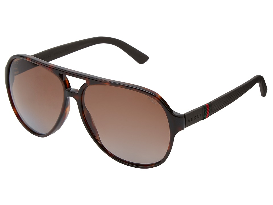 Gucci - GG 1065/S (Havana/Brown Polarized) Fashion Sunglasses