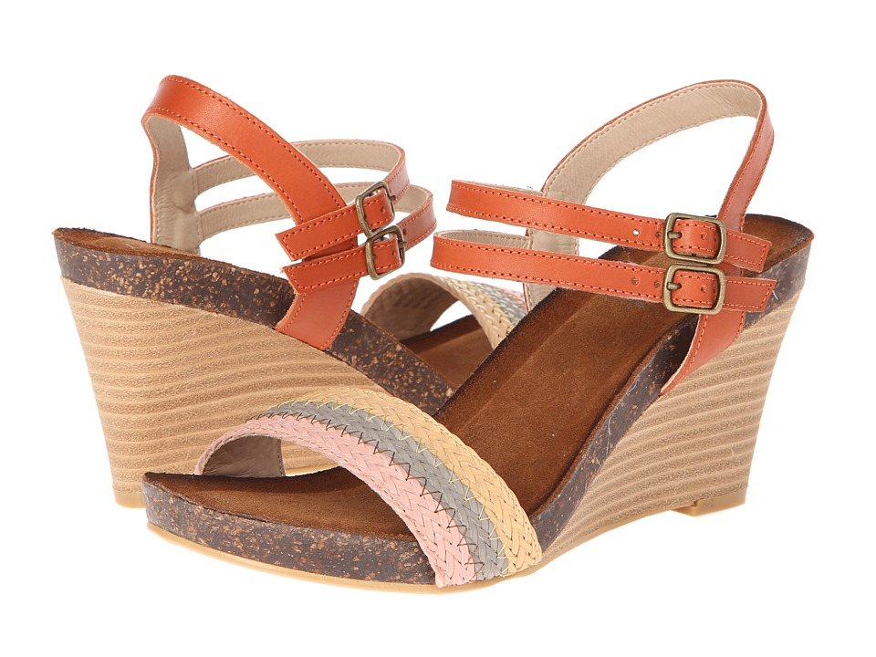Diba - Night Lee (Orange) Women's Wedge Shoes