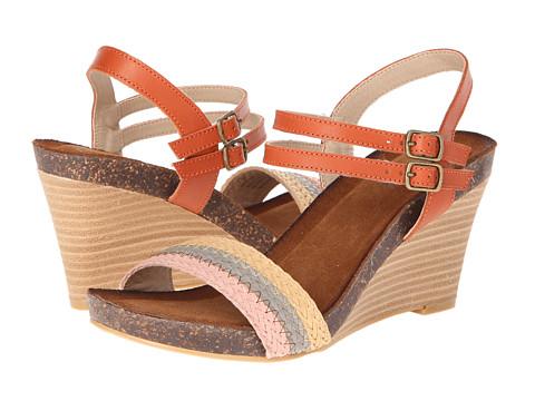 Diba - Night Lee (Orange) Women's Wedge Shoes