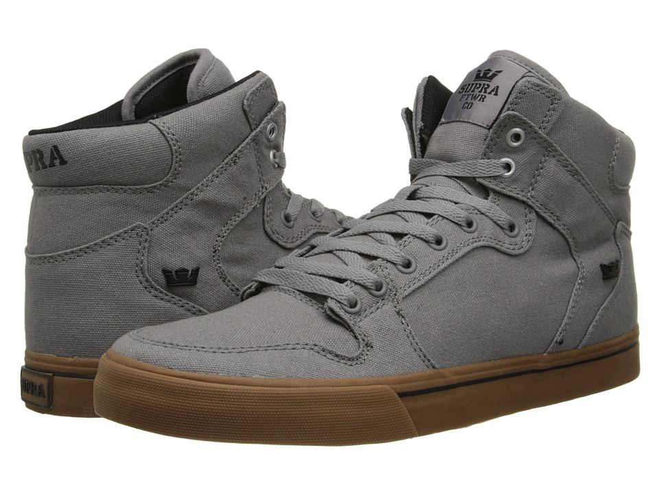 Supra Vaider (Storm Grey/Gum) Skate Shoes