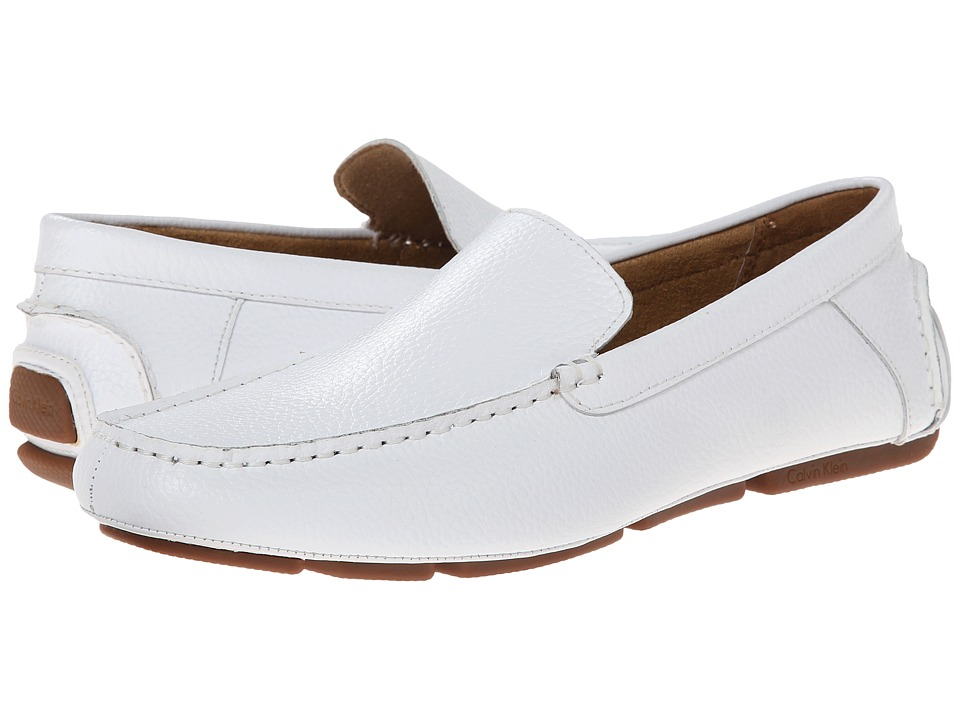 Calvin Klein Menton (White Tumbled Leather) Men