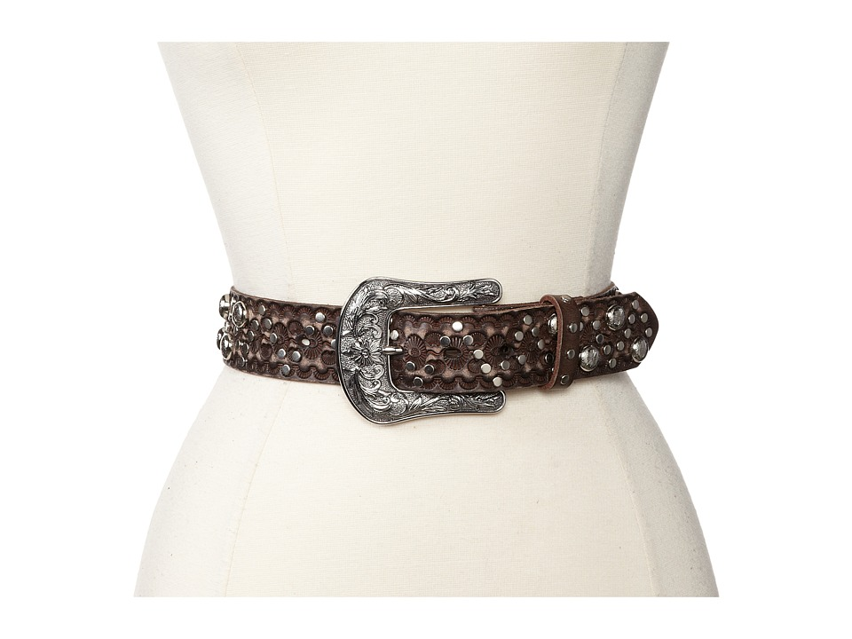 Ariat - Embossed Nailhead And Stud Belt (Brown) Women's Belts