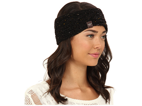 UGG - Zermatt Cable Headband (Black Heather M) Headband