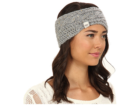 UGG - Zermatt Cable Headband (Grey Heather M) Headband