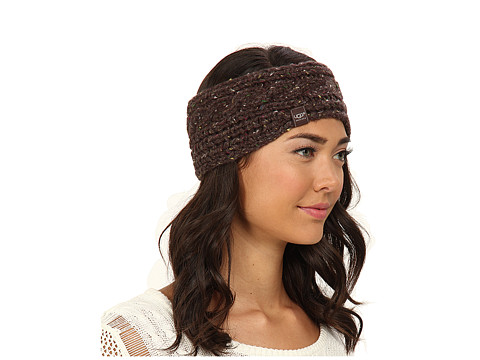 UGG - Zermatt Cable Headband (Chocolate Heather M) Headband