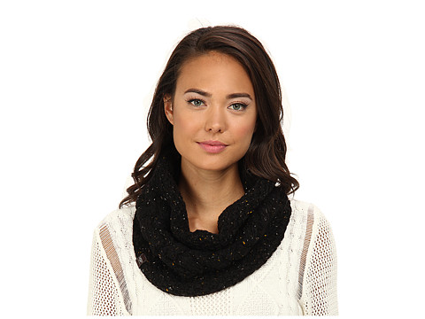 UGG - Zermatt Cable Snood (Black Heather M) Scarves