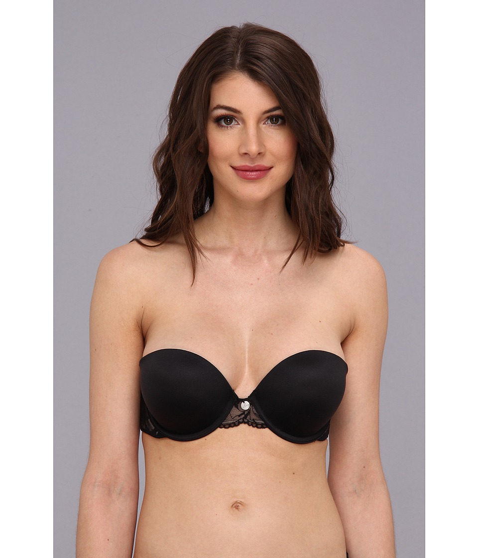 DKNY Intimates - Super Glam Strapless Push-Up Bra 458111 (Dark Black/Dark Pretty Nude) Women's Bra