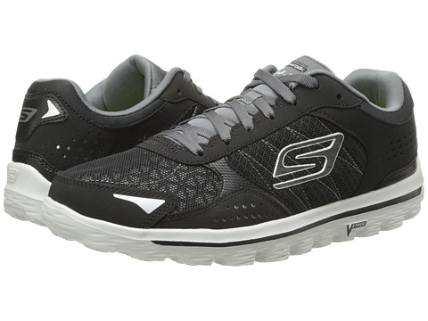SKECHERS Performance - GO Walk 2 Flash (Black/Grey) Men's Lace up casual Shoes