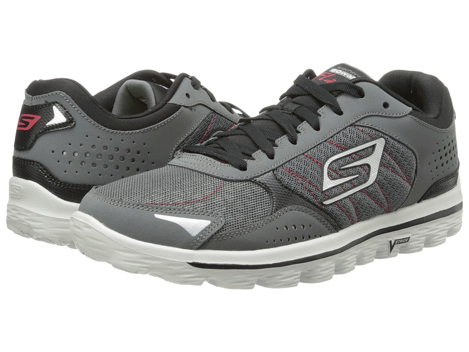 SKECHERS Performance - GO Walk 2 Flash (Charcoal/Black) Men's Lace up casual Shoes