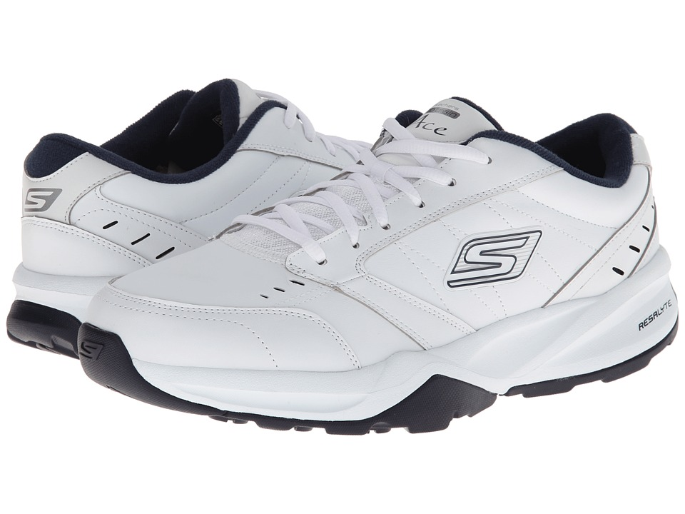 SKECHERS Performance - Go Train - Ace (White/Navy) Men's Shoes