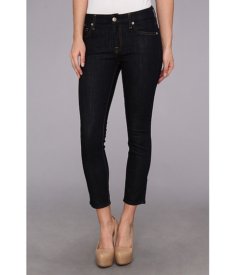7 For All Mankind - Kimmie Crop in Ink Rise (Ink Rise) Women