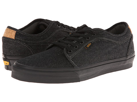 Vans - Chukka Low (Denim Black/Cork) Men's Skate Shoes