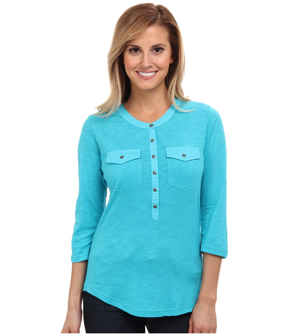 Kuhl - Khloe (Aqua) Women's Long Sleeve Pullover