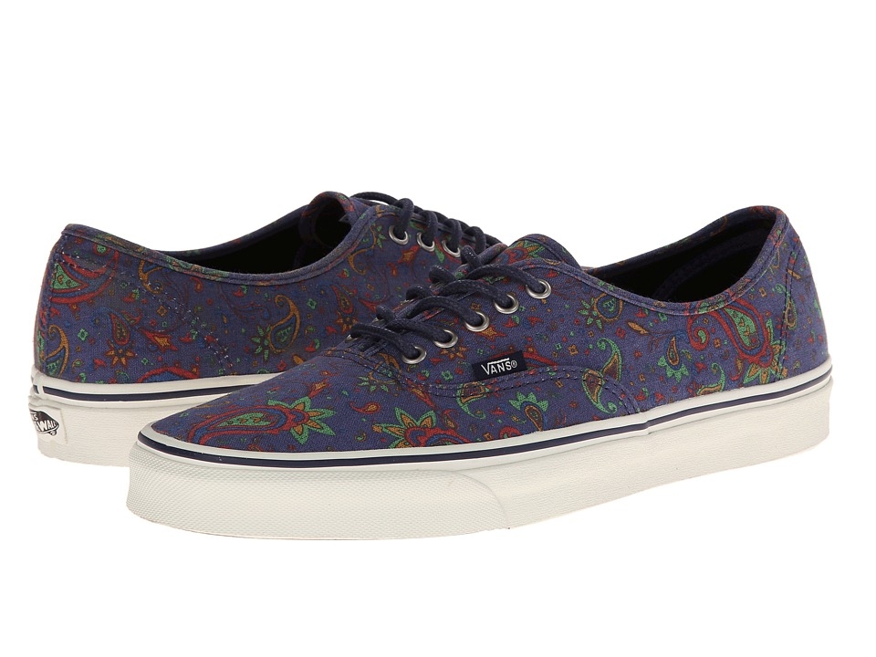 Vans - Authentic ((Paisley) Medieval Blue) Skate Shoes