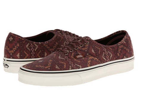 Vans - Authentic ((Tribe Rug) Red Clay) Skate Shoes