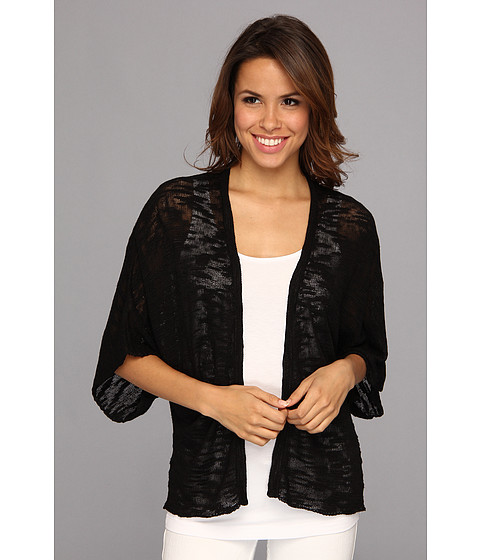 525 america - Slub Yarn Kimono (Black) Women's Sweater