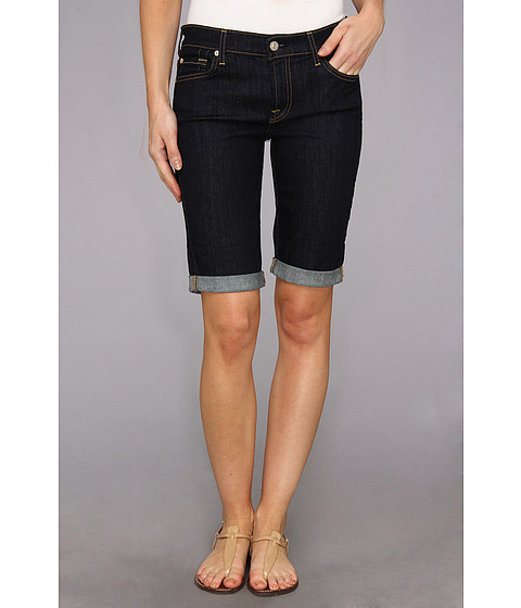 7 For All Mankind - Bermuda Short in Ink Rise (Ink Rise) Women's Shorts