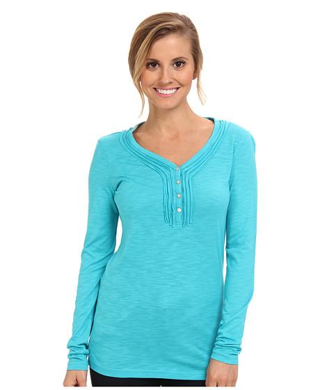 Kuhl - Vega L/S Henley (Aqua) Women's Long Sleeve Pullover