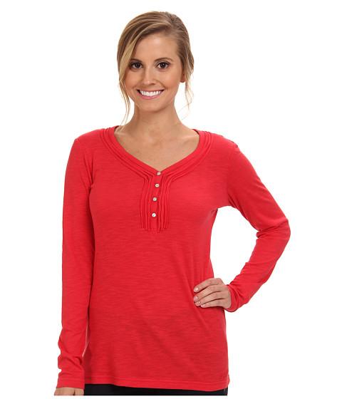 Kuhl - Vega L/S Henley (Crimson) Women's Long Sleeve Pullover