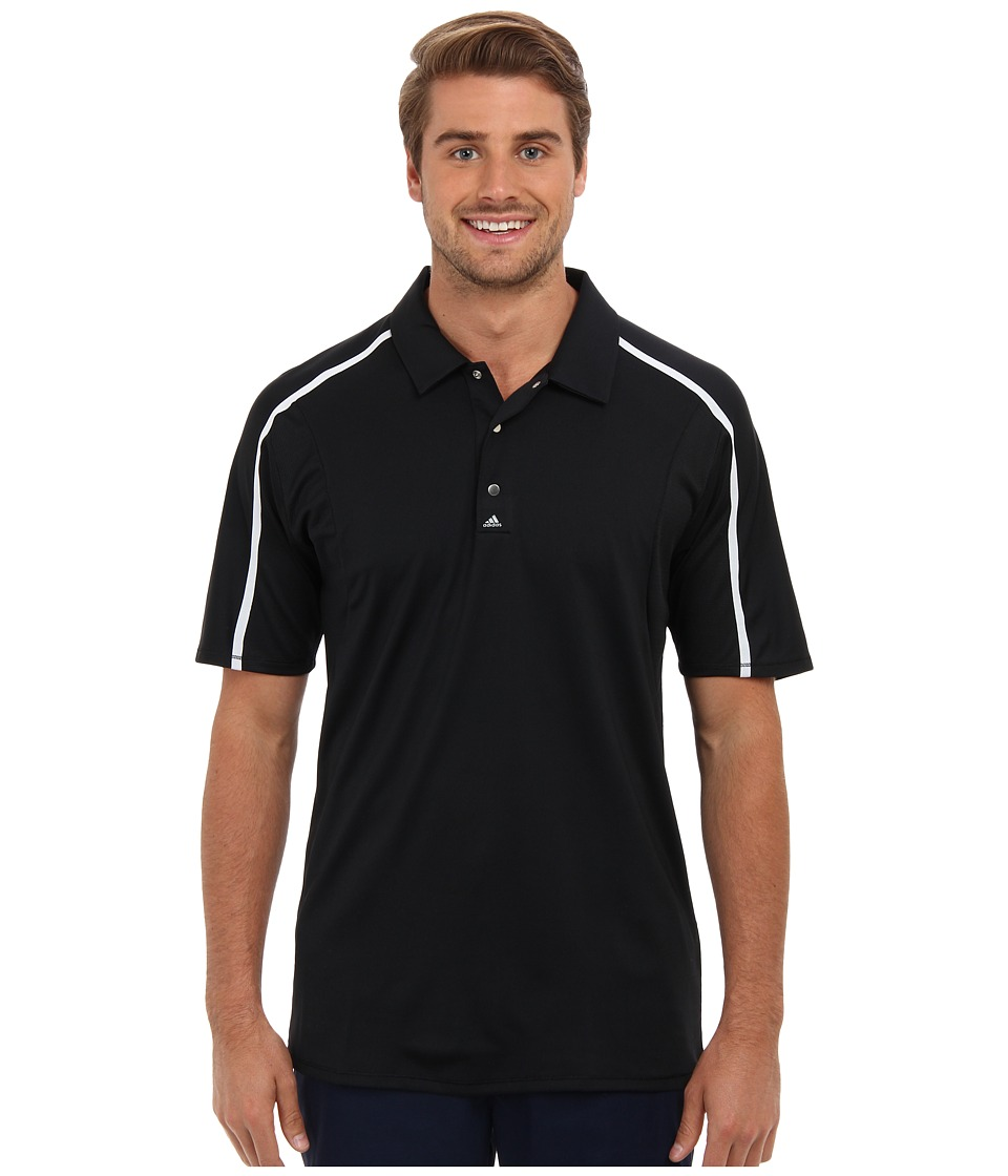 adidas Golf - Puremotion Tour CLIMACOOL Raglan Flex Rib Polo (Black/White) Men's Short Sleeve Knit