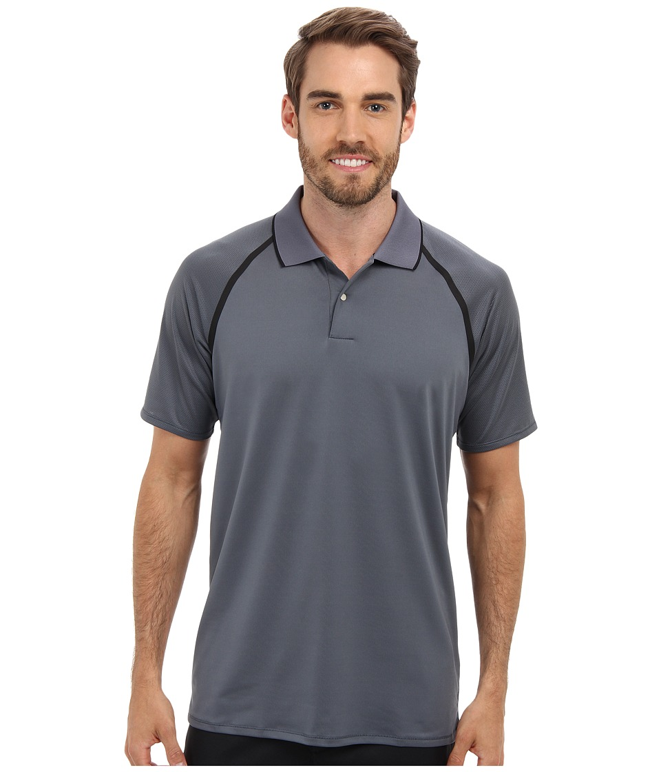 adidas Golf - Puremotion Tour CLIMACOOL Metallic Polo (Lead/Black) Men's Short Sleeve Knit
