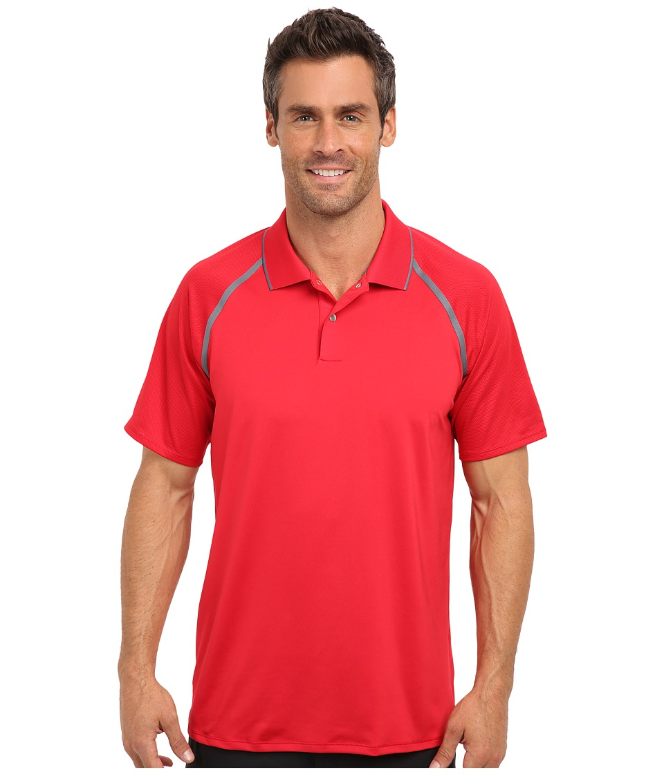 adidas Golf - Puremotion Tour CLIMACOOL Metallic Polo (Bold Red/Lead) Men's Short Sleeve Knit