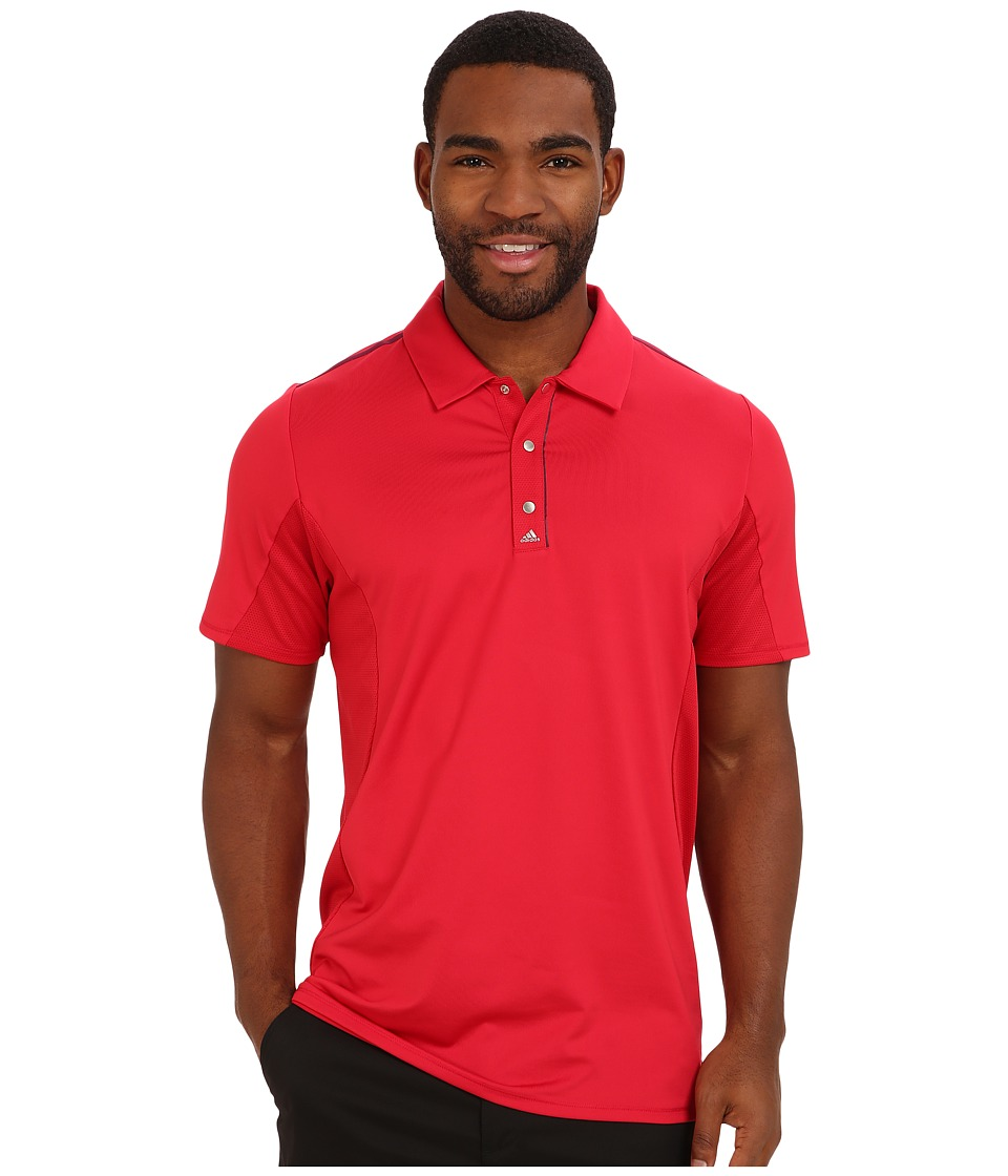 adidas Golf - Puremotion Tour CLIMACOOL Flex Rib Texture Polo (Bold Red/Amazon Red) Men's Short Sleeve Pullover