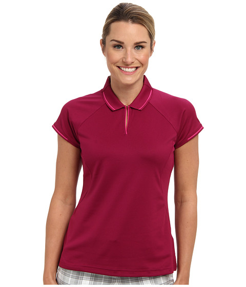 adidas Golf - Fashion Textured Polo (Tribe Berry/Bahia Magenta) Women's Short Sleeve Knit