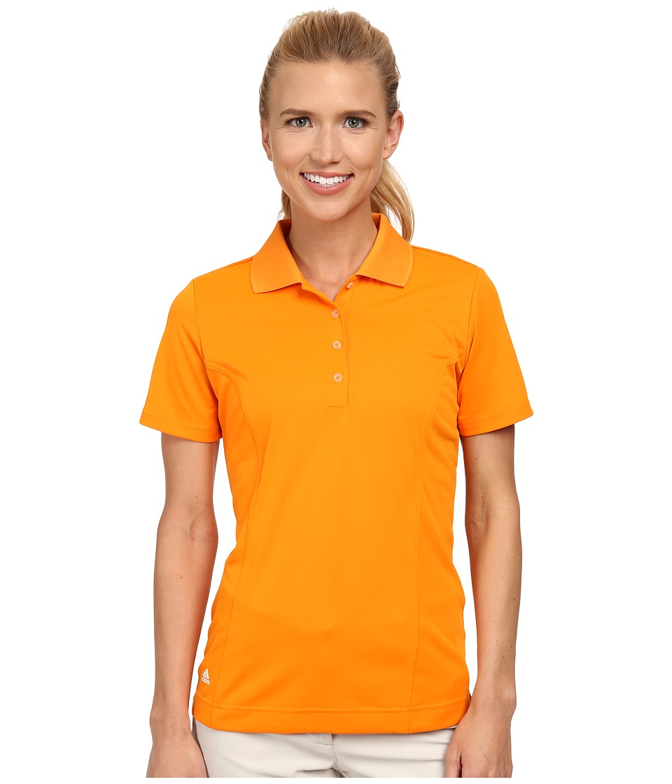 adidas Golf - Solid Jersey Polo '15 (Bright Orange/White) Women's Short Sleeve Knit