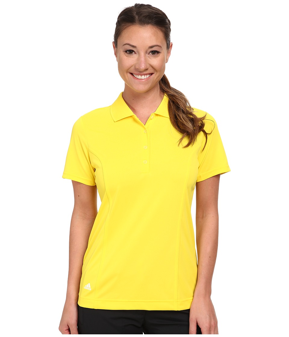 adidas Golf - Solid Jersey Polo '15 (Vivid Yellow/White) Women's Short Sleeve Knit
