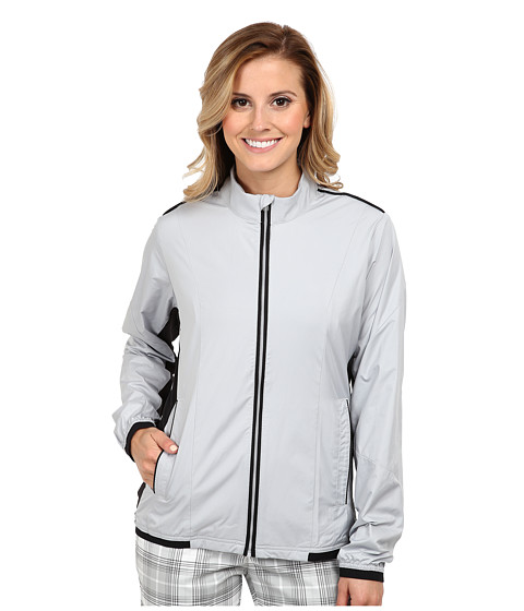 adidas Golf - Climaproof Stretch Wind Jacket (Clear Onix/Black) Women