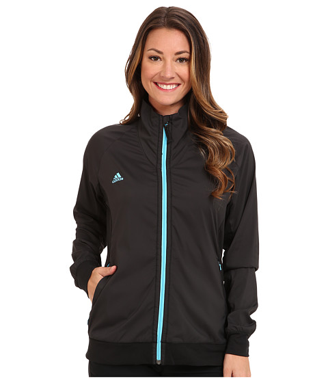 adidas Golf - Puremotion Wind Jacket (Black/Bright Cyan) Women's Jacket