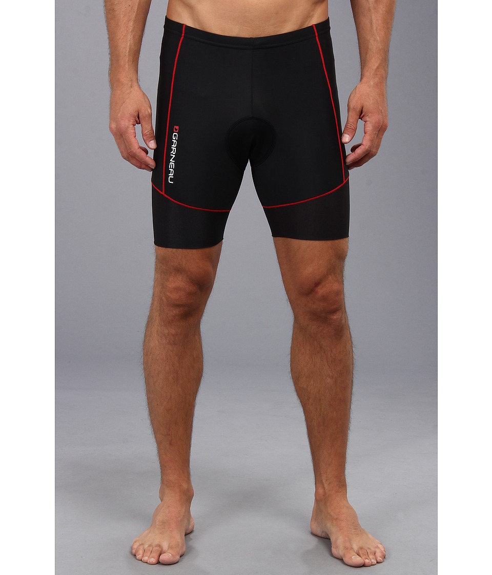 Louis Garneau - Men Comp Shorts (White/Black/Red) Men's Shorts