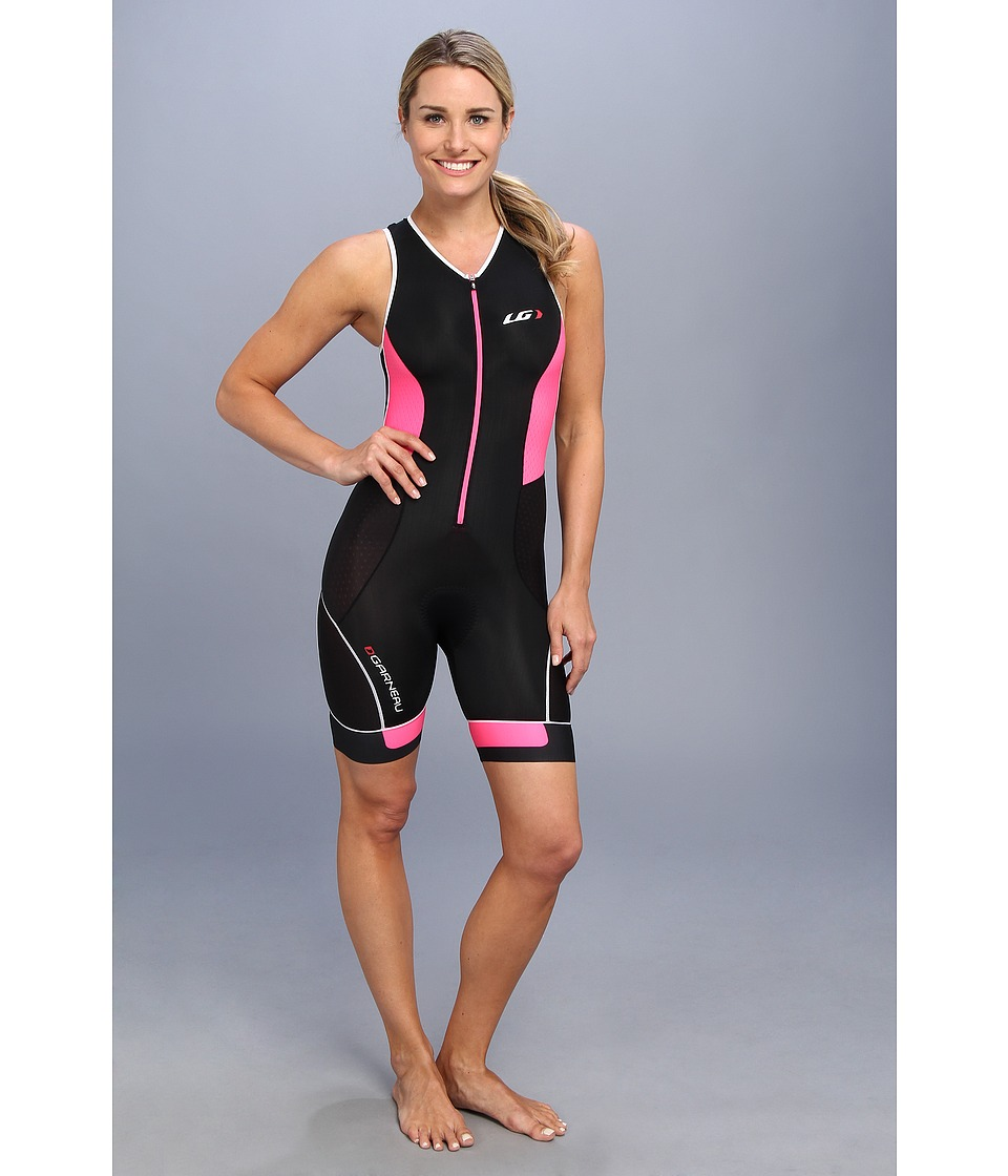 Louis Garneau - Women Pro Suit (Black/Flash Pink) Women's Cycling Bibs One Piece