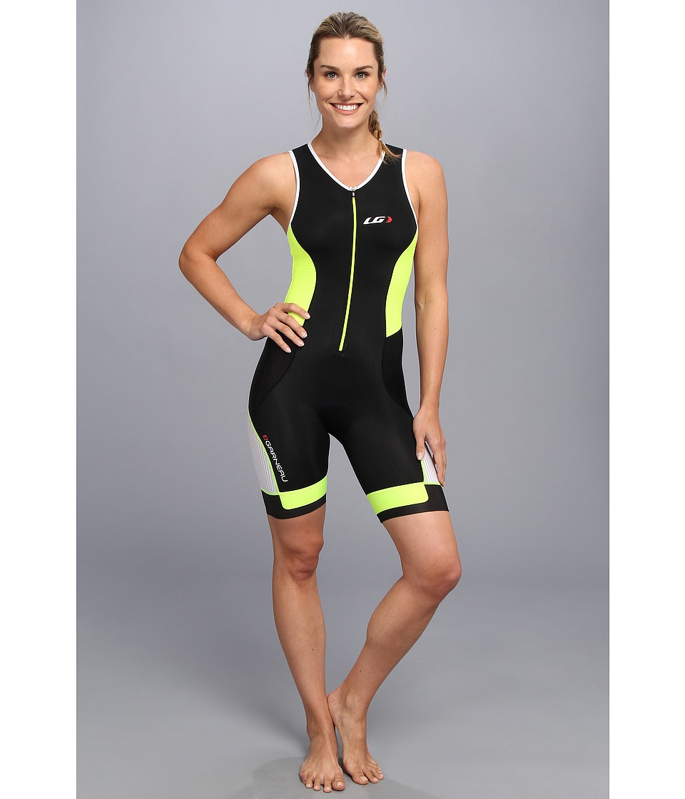 Louis Garneau - Women Pro Suit (Black/Fluro Yellow) Women's Cycling Bibs One Piece