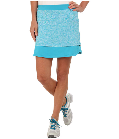 adidas Golf - Mixed Media Adjustable Skort (Solar Blue/White) Women