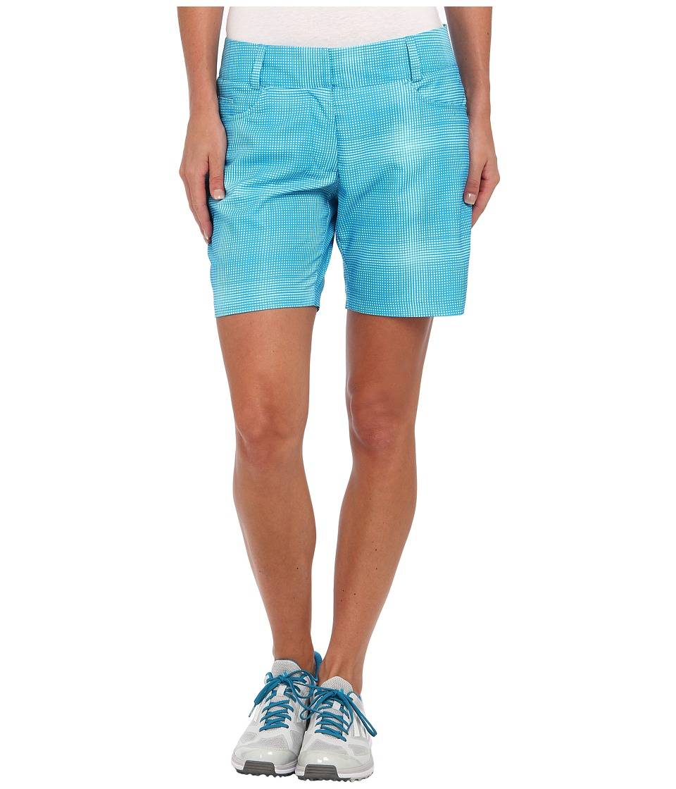 adidas Golf - Plaid Short (Solar Blue/Frost Blue) Women