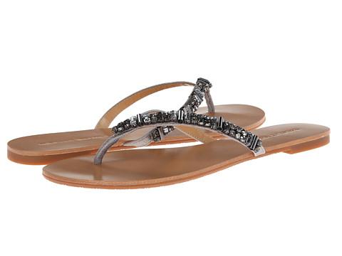 Shop Badgley Mischka online and buy Badgley Mischka Kamryn Pewter Metallic Suede Womens Sandals online
