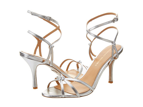 Badgley Mischka - Kendal II (Silver Leather) High Heels