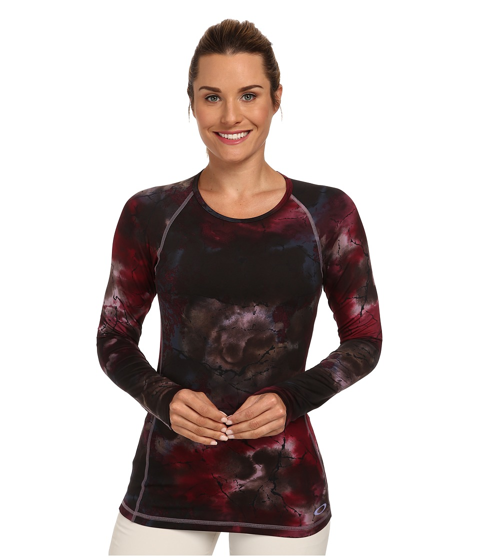 Oakley - Uniform Baselayer Top (Purple Sage Nebula) Women's Clothing