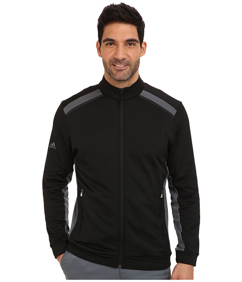 adidas Golf - Climawarm+ Full Zip Color Pop Jacket (Black/Lead) Men