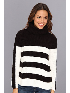 SALE! $46.99 - Save $37 on 525 america Boxy Stripe Turtle Tunic (Black Ivory) Apparel - 44.06% OFF $84.00