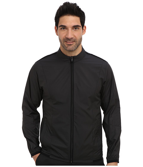 adidas Golf - CLIMAPROOF Stretch Wind Jacket (Black/Black) Men's Coat
