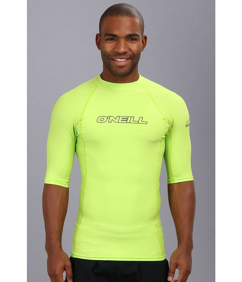 O'Neill - Basic Skins S/S Crew (Lime) Men's Swimwear